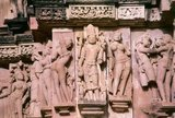 During the 10th and 11th centuries CE the Chandella Kings of central India, scions of a powerful Rajput clan who claimed the moon as their direct ancestor, built a total of 85 temples to the glory of God, the creation, and the Hindu pantheon. The Chandellas were devout Hindus.<br/><br/>  Eclipsed by the Mughal conquest, the rise of rival dynasties, and the passage of time, the temples languished in the harsh sun and monsoon rains of central India, gradually becoming lost in the jungle. At the time of their re-discovery in 1839, they were so completely overgrown that T. S. Burt, their founder, thought no more than seven temples had survived. Happily this proved far from the case, for when the undergrowth was hacked back and the complex restored, no fewer than twenty two of the original structures were revealed standing.